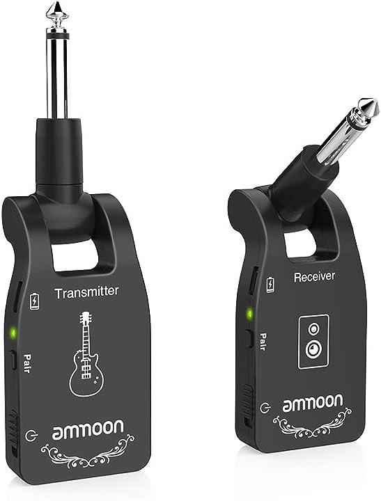 Trasmettitore chitarra wireless ricevitore 2.4g con 6 canali audio ricaricabile per chitarra elettrica e basso I4054