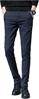 N\P Pantalones de los Hombres Slim Casual Pantalones Negocios Negro Azul Gris Pantalones de Hombre Ropa