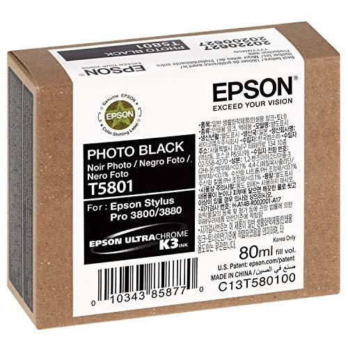 Epson C13T580100 - Cartucho de tinta, color negro