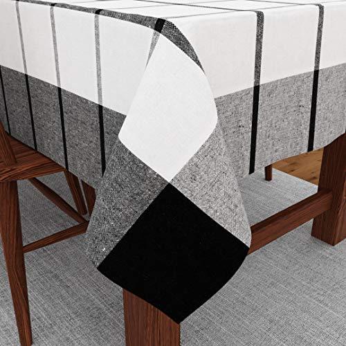 Encasa Homes Tovaglia da Pranzo per 4 a 6 posti Grande Tavolo da Pranzo Centrale - 142 x 182 cm,...