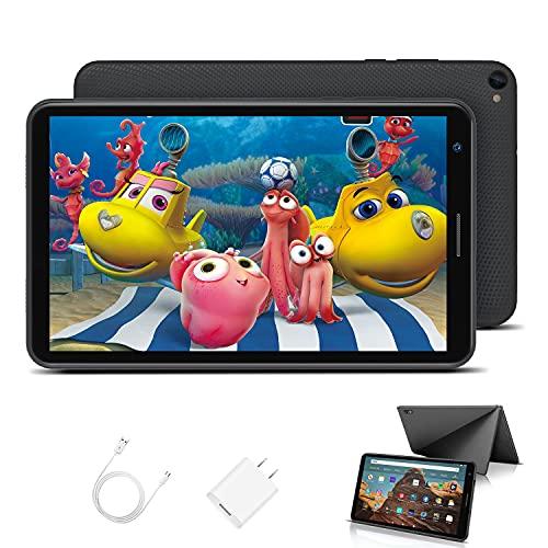 Tablet Bambini 8.0 Pollici con Wifi Offerte Android 10.0 Certificato Google GMS 3GB RAM 32GB 128GB Tablet PC in Offerta 1.6GHz Quad Core 5000mAh Tablet Android con Giochi Educativi Netflix(Nero)
