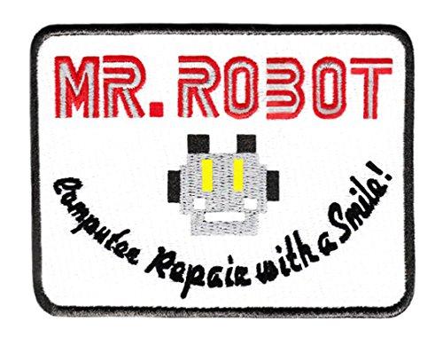 """Aufnäher mit Aufschrift """"Mr Robot Shirt"""", 10,2 x 7,6 cm, cooles Aufbügeln, lustig"""