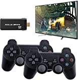 Malsyee Consola USB inalámbrica, 64G 4K HDMI Mini Game Stick Video Game Stick Consola, 8 Bit Mini Retro Controlador HDMI Salida Dual Player integrado 10000+ Juego clásico