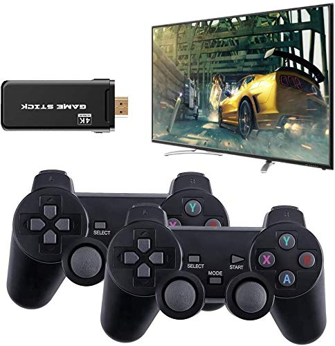 Consola inalámbrica por USB, 4 K, HDMI, miniconsola, videojuegos, 8 bits, mando retro, salida HDMI, reproductor dual incorporado, con 3500 clásicos incorporados