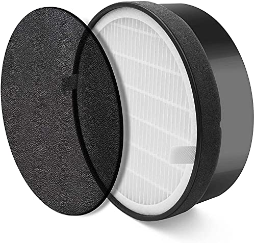 LEVOIT Air Purifier LV-H132-RF Replacement Filter, 3-in-1 Nylon Pre-Filter, True HEPA Filter, High-Efficiency Activated Carbon Filter, 1 Pack