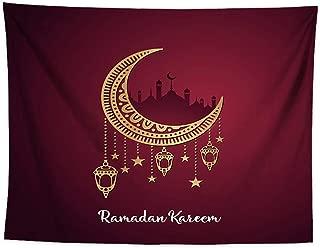 liumiKK 150 * 130cm Eid Mubarak Decor Printed Background Wall Tapestry Hanging Cloth Ramadan Kareem Islamic Muslim Party Wall Cover Ramadan Decoration