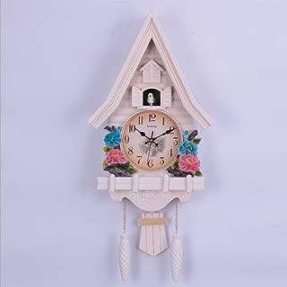 WQSFD Reloj de Cuco Cuarzo a Pilas y Llamada de cucú Mute con Mecanismo Selva Negra Reloj Decoración Pared Decoración Ideal para la Casa Oficina Hotel Restaurante,27.2 * 13inch