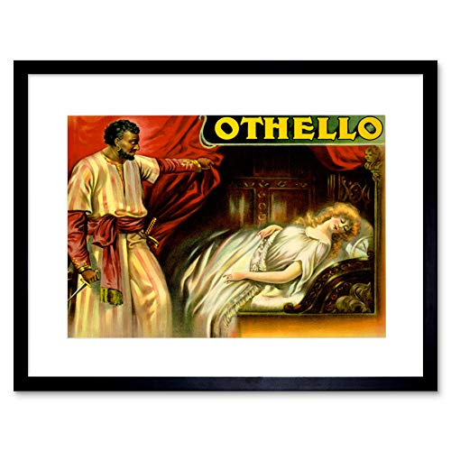 Wee Blue Coo theater podium spelen Othello Shakespeare Desdemona Tragedy ingelijst muur Art Print