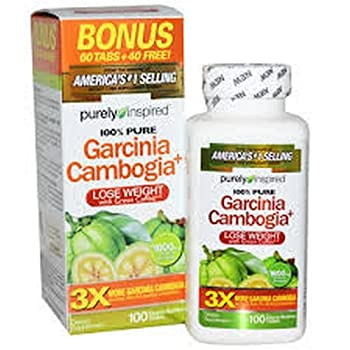 Purely Inspired Garcinia Cambogia Plus Tablets 100 ea  Pack of 8