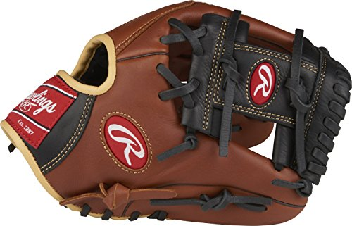 "Rawlings Sandlot Series Leather Conventional Back Gloves, 11-1/2"", Right Hand Throw"
