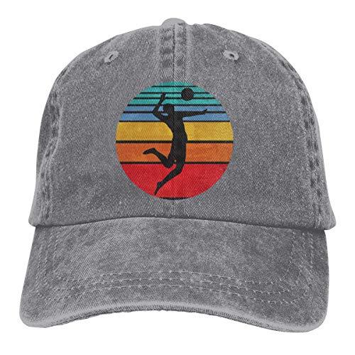 Hoswee Baseballmütze Hüte Kappe Volleyball Adult Personalize Cowboy Casquette Verstellbare Baseballkappe