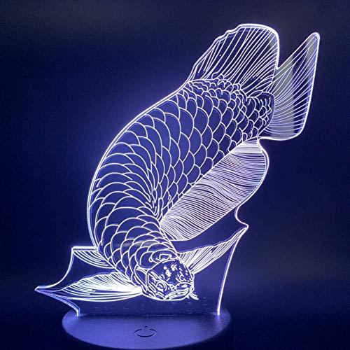 Lampe Illusion 3D beau poisson Veilleuse Enfants cadeau Salon lampe animaux veilleuses enfants cadeau décoratif Led Night Light lumière de nuit