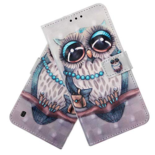 Samsung Note 9 Case Galaxy Note 9 Wallet Case Premium PU Leather Case COTDINFORCA 3D Creative Painted Effect Design Full Body Protective Cover for Samsung Galaxy Note 9 PU Lady Owl YB