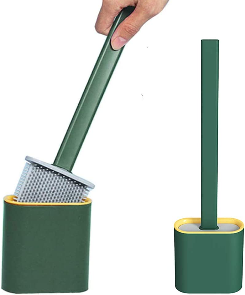 Pretty Jolly Silicone Toilet Max 66% OFF Brush Tulsa Mall Holder Hold Standing with Set