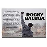 Rocky Balboa Leinwanddrucke Kunst Sprachmotivation Hoffnung
