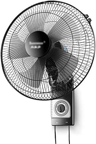 Byakns Muro de Negocios con Ventilador, oscilante, Cabeza de la Sacudida |mecánica, con cordón y pasadores |Ventilador eléctrico |Ventilador de Pared |17 Pulgadas |Negro
