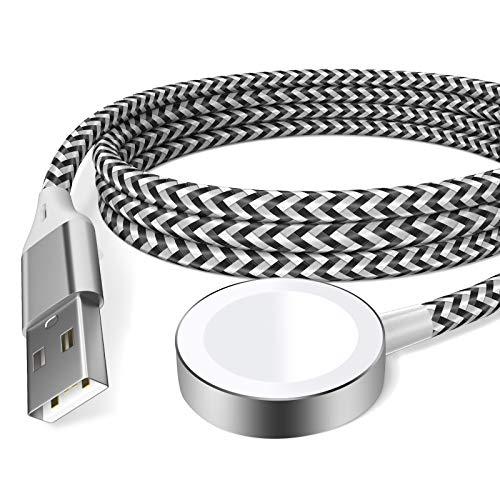 Cavo di Ricarica per Apple Watch Serie 6/SE/5/4/3/2/1, Caricatore Magnetico USB Caricabatterie compatibile con iWatch (Black 1)