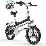 MQJ Bicicleta Eléctrica Plegable de Ebikes para Adultos, 20'Bicicleta de Montaña Eléctrica de 20', Tres Modos Rango de Asistencia para Montar 60-80Km para la Ciudad Desplazamiento de Viajes de Cicli