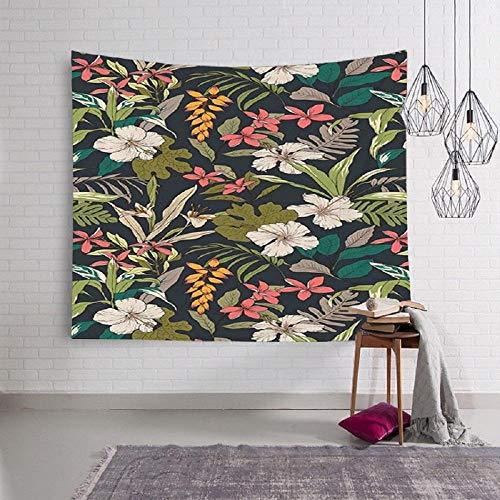 Tapiz de montaña colgante de pared paisaje río tapiz de pared cortina escénica flor tapiz de árbol estera de playa manta alfombra 180x180cm