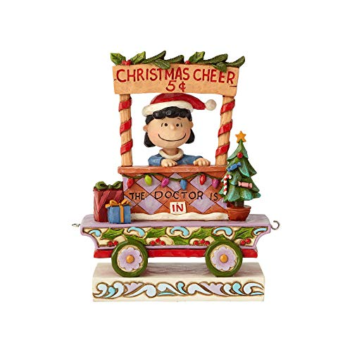 Enesco Peanuts by Jim Shore Lucy Christmas Train Car Figur, Mehrfarbig, 5.43