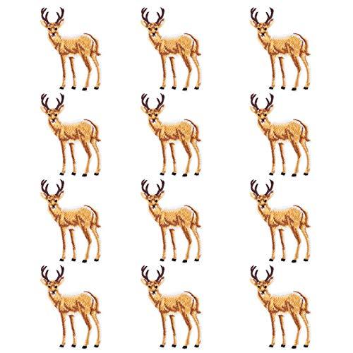 Calcomanías para planchar, parches bordados con patrón de ciervo Art Craft, maletas para ropa