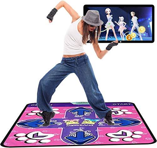 KTYX Alfombra Baile Doble para Niños Y Adultos - Juegos Multifunción Juego de Tapete Dance Pad de Yoga - Juego de Sentidos para PC TV Niños