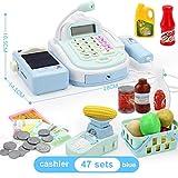 PowerBH Role Playing Toy Analoge Smart-Registrierkasse für Kinder mit Scanner und Geld für Kinder-Registrierkasse Lustiges Spielzeug
