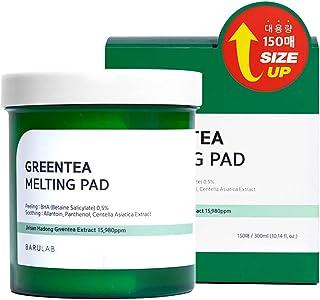 [BARULAB] GREENTEA MELTING PAD 150EA (300ml) - Peeling: BHA 0,5%, Soothing: Allantoïne, Panthenol, Centella Asiatica Extra...