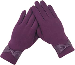 WUXiaodanDan Women's fashion gloves thick warm gloves outdoor riding gloves driving cold gloves