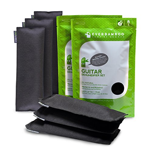 Ever Bamboo Guitar Dehumidifier Bag Set w/ Bamboo Charcoal (3-50 g, 2 Pack)