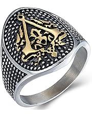 HHW Fashion Assassin's Creed Ring Anello da Uomo in Lega di Alta qualità, Regalo di Gioielli Punk Brothers