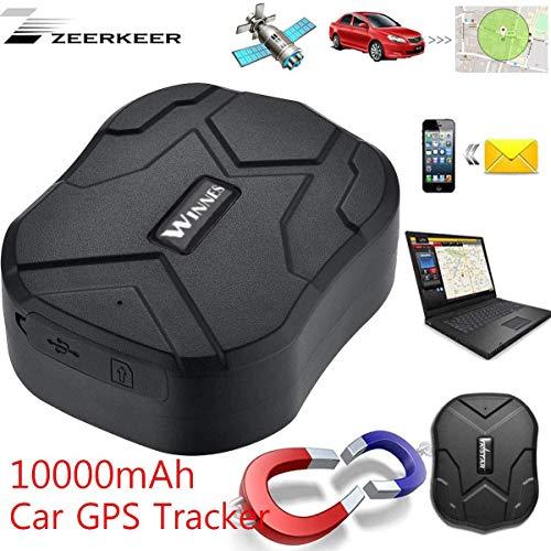 GPS Tracker,150 Jours de Veille,TK905B Traqueur GPS en Temps Réel de Suivi Imperméable,Anti-Perdu Professionnel,Traqueur D'alarme GPS de Voiture pour Camion de Voiture Moto Boat avec APP Gratuite