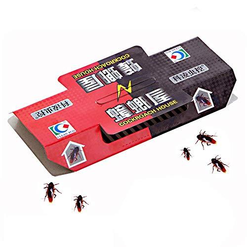 DUOCACL Control de cucarachas, 10 unidades de trampa de cucarachas repelente de la casa de la cucaracha, cebo fuerte atrapasueños pegajosos trampas de insectos plagas, no tóxicas, ecológicas