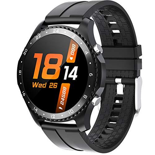Ck30smartwatch Men's Smart Watch Ladies Bluetooth Llamada Impermeable Ejercicio Ejercicio Monitor De Ritmo Cardíaco Monitor Aptitud Pulsera Reloj para Android iOS,A