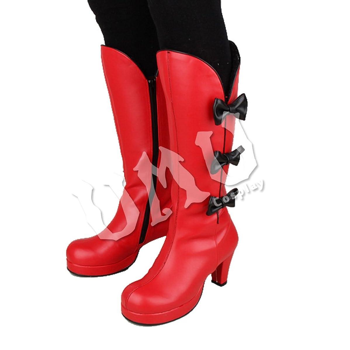 気になるスタック読みやすい【UMU】 足22cm LOLITA ロリータ 赤 黒 中華 チャイナ 風 靴 オーダーメイド(ヒール高、材質、靴色は変更可能!)