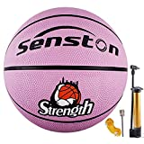 Senston Ballon de Basket-Ball Basketball Enfant Caoutchouc Doux et Bouncy Basketball Extérieur et intérieur-Taille 5