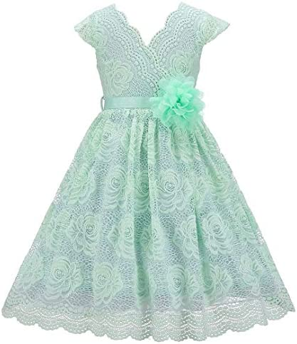 Bow Dream Lace Flower Girl Dress Country Daily Casual Party Mint 10 product image