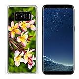 Luxlady Samsung Galaxy S8 Clear case Soft TPU Rubber Silicone Image ID 27718060 Beautiful Plumeria Flower