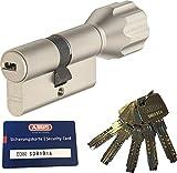 ABUS EC660 ECK660 Profil-Knaufzylinder Länge (a/b) Z45/K45mm (c=90mm) mit 5 Schlüssel, mit...