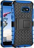 ONEFLOW® Tank Hülle kompatibel mit Samsung Galaxy A5 (2017) Outdoor Hülle | Panzer Handyhülle mit Ständer - 360 Grad Handy Schutz aus Silikon und Kunststoff, Blau