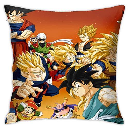 asdew987 Gohan Goku Goten Majin Buu Trunks Vegeta Videl - Funda de almohada para sofá o coche, 45 cm x 45 cm