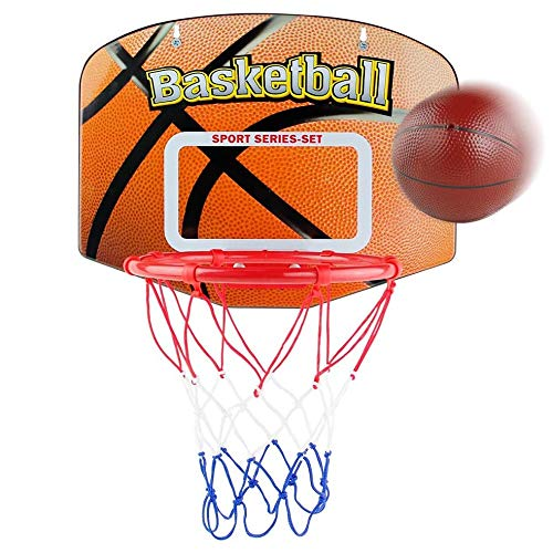 Fall Basketballkorb fürs Zimmer, Indoor Outdoor Hängendes Mini-Basketballnetz, Basket Hoop Board Spielzeug-Spielset, für Home Bedroom Office