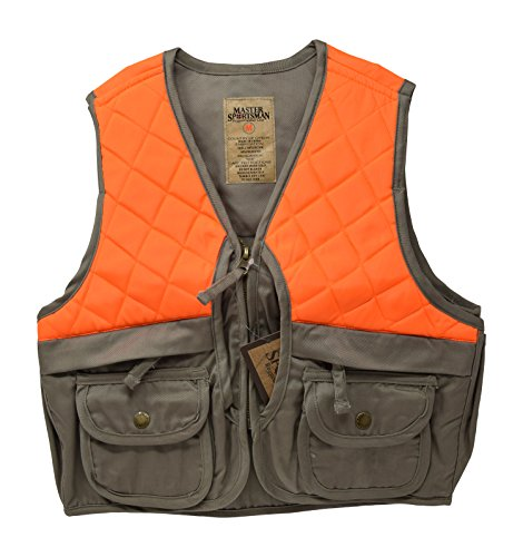 Nickanny's Sportsman Blaze Orange and Tan Youth Kids Field Shell Hunting Vest (Tan/Blaze, X Large (14-16))