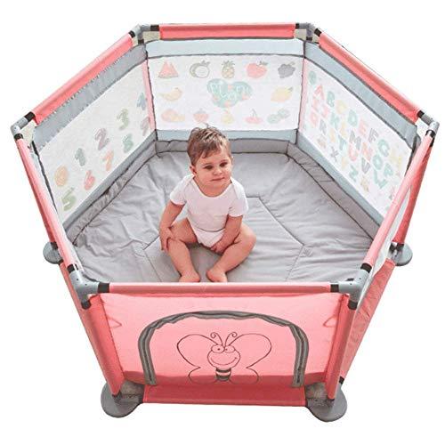 WBHZ Baby-laufgitter, Tragbare Baby-laufgitter, Kriechender Kleinkindschutz-spielzeugzaun Für Den Innenbereich (mit Doppelseitigen Matten)