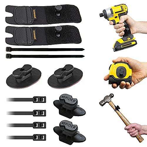Spider Tool Holster - SIX Piece Expansion Set - Equip All of Your Hand Tools + Power Tools with Spider Gear!