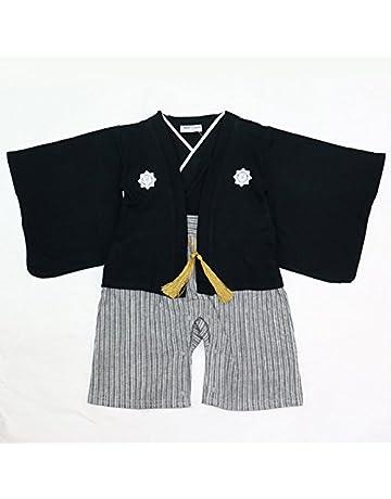 1485d87f1b937 ベビー キッズ 子供服 袴風 カバーオール ロンパース 男の子 黒 95cm 10667506BK95