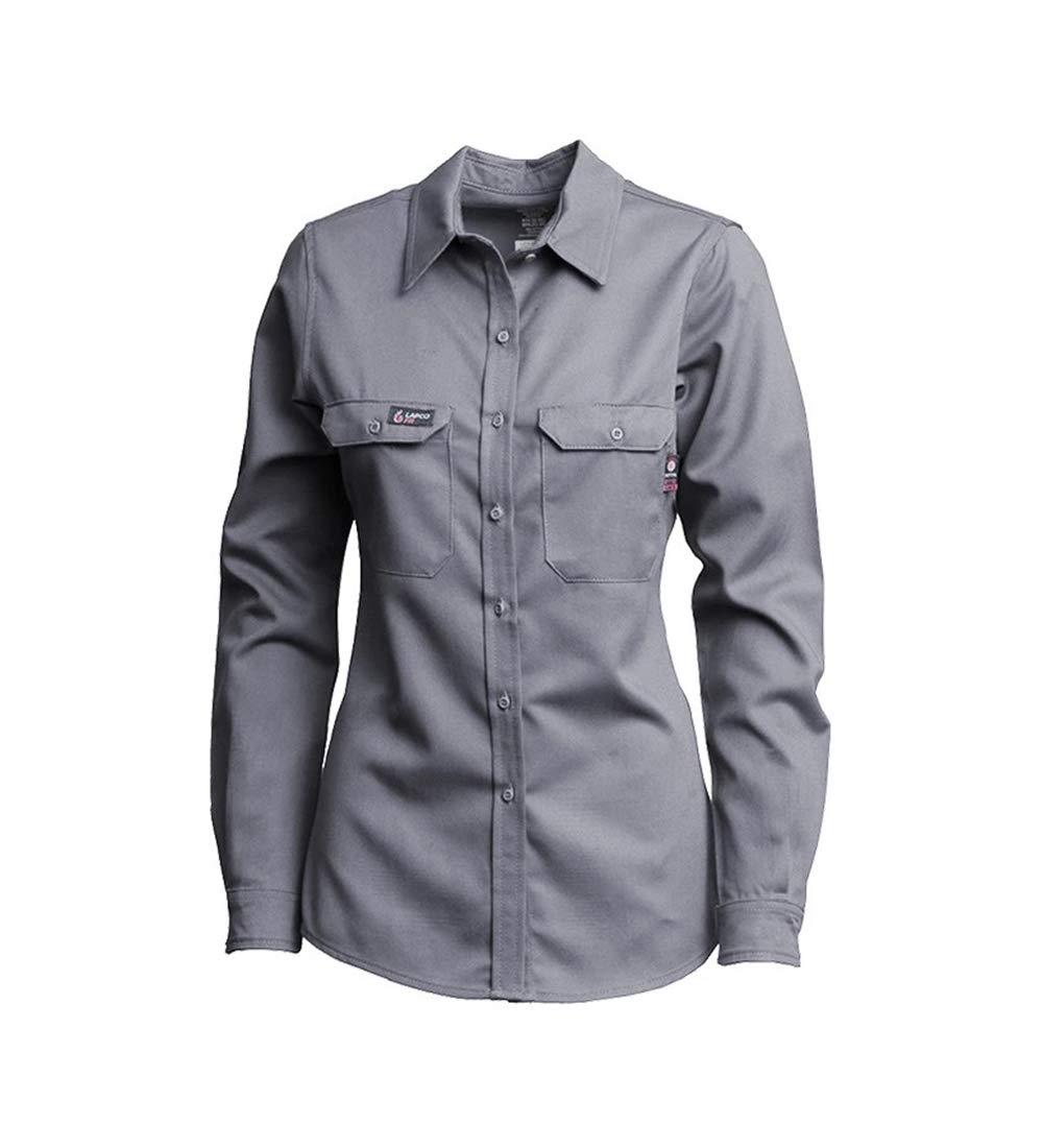 Lapco FR L-SFRACGY-2X LO Ladies Advanced Shir Max 81% OFF Comfort Uniform Bombing free shipping