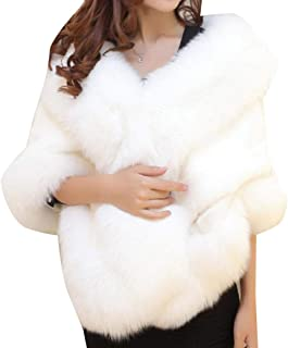 Howme-Women Rabbit Fur Fall Winter Elegent Bridal Short Jacket Parka Outwear