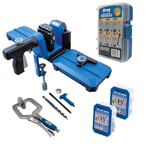 Kreg Pocket-Hole Jig 520PRO and Docking Station with SK04 Starter Pocket Hole Screw Kit