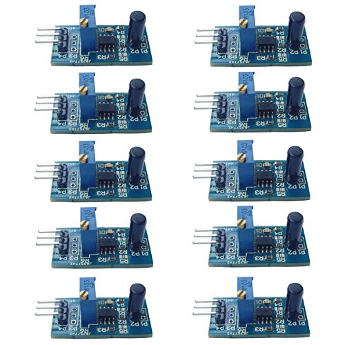 Optimus Electric 10pcs Vibration Sensor Module with LM393 Voltage Comparator Digital Output Signal 3.3V - 5V for Theft Alarms and Smart Cars from